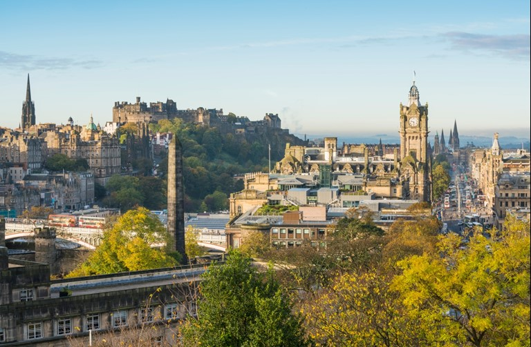 View of Edinburgh Castle from Calton Hill - Photo credit Visit Scotland/Kenny Lam