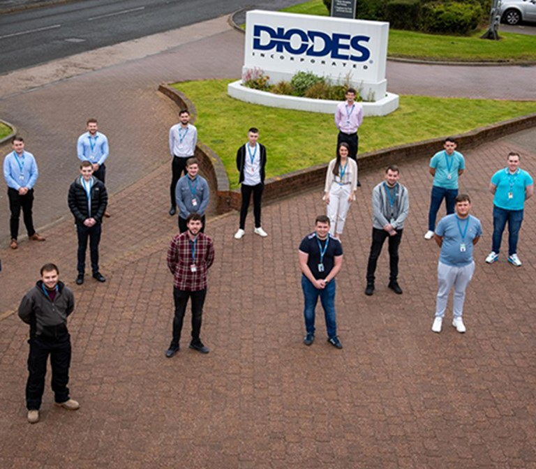 Diodes team, Greenock, Scotland