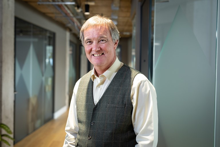 David Brown,co-founder and chief product officer at Previse, pictured at the firm's Glasgow offices.